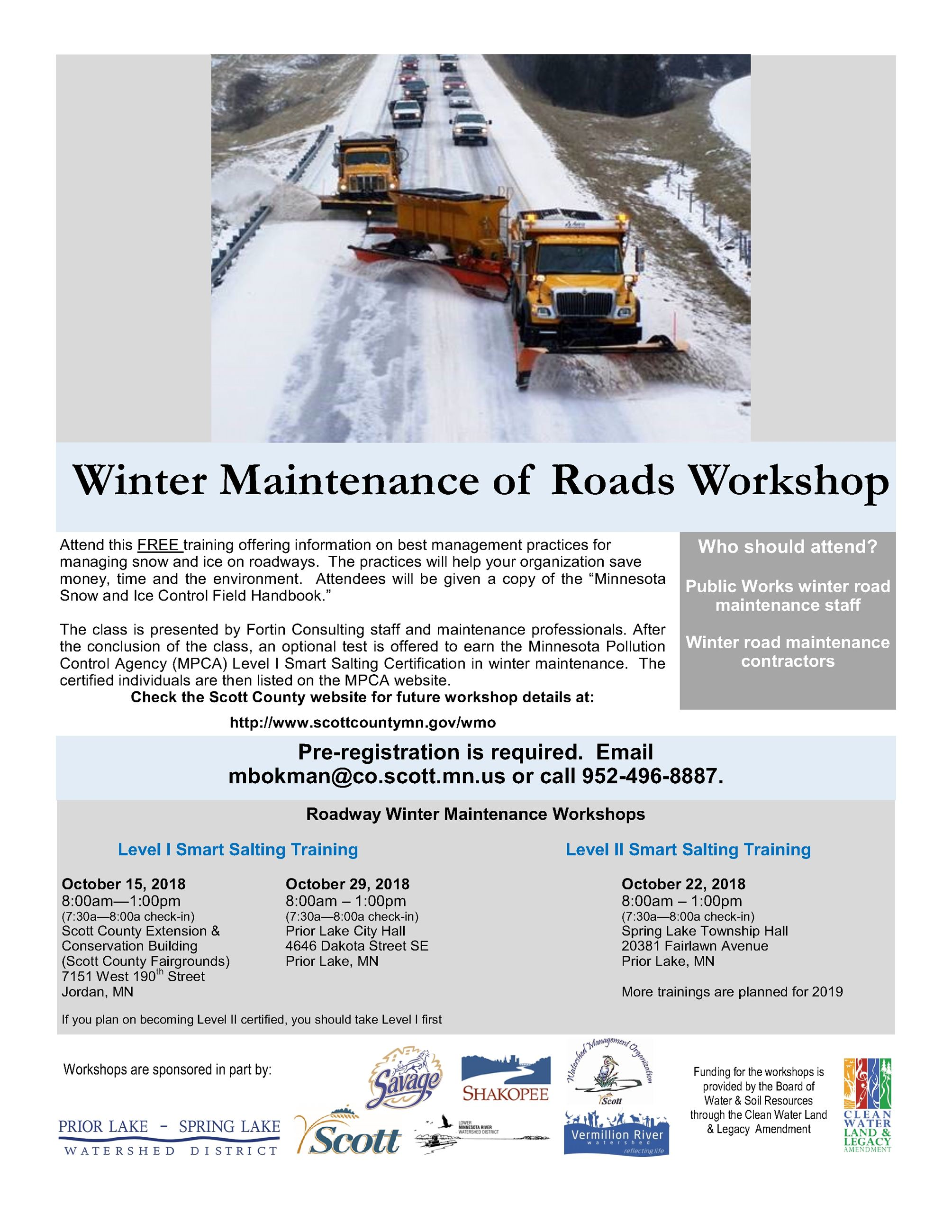 Winter Roads Flier October 2018