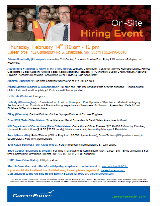 Feb 14 hiring event