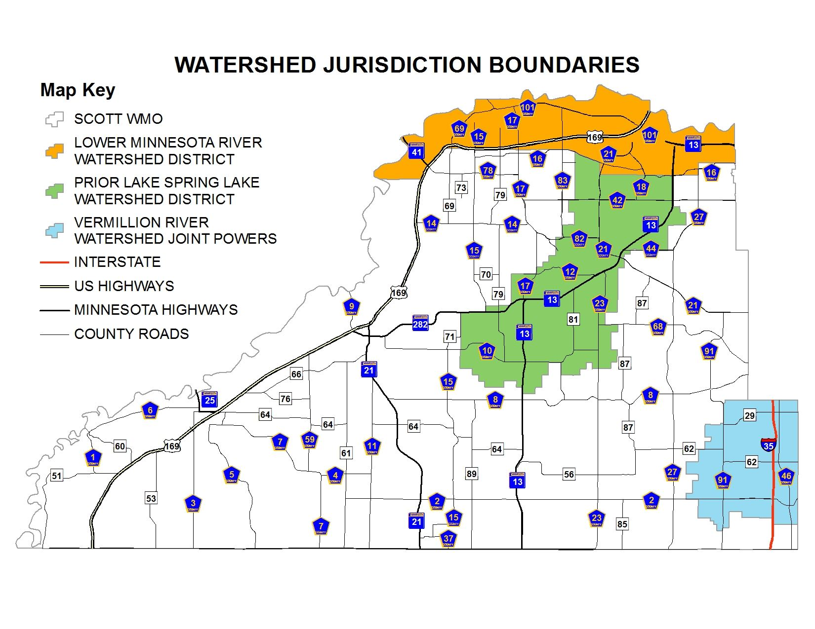 Simple Watershed Boundaries